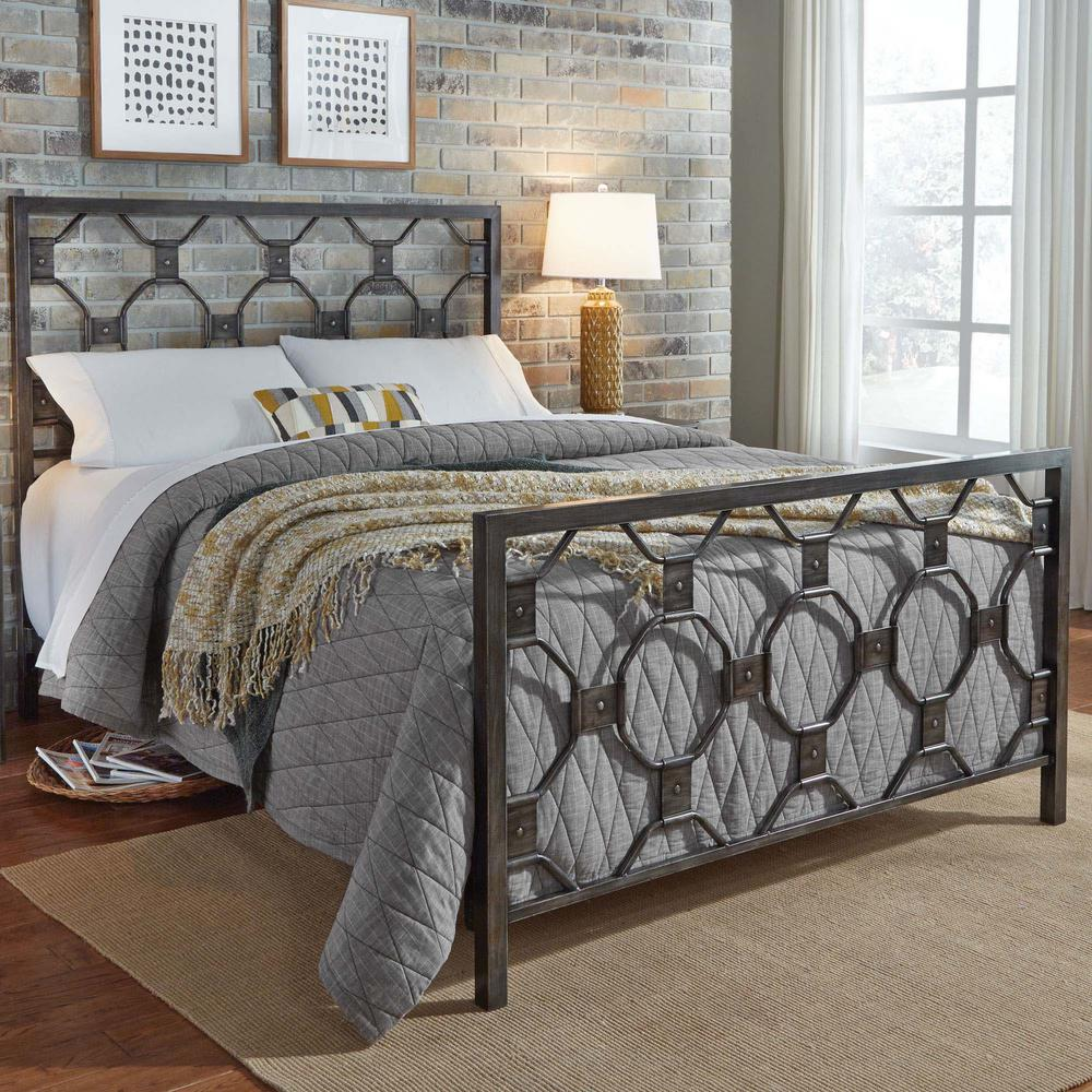 Fashion Bed Group Baxter Heritage Silver Queen Metal Bed