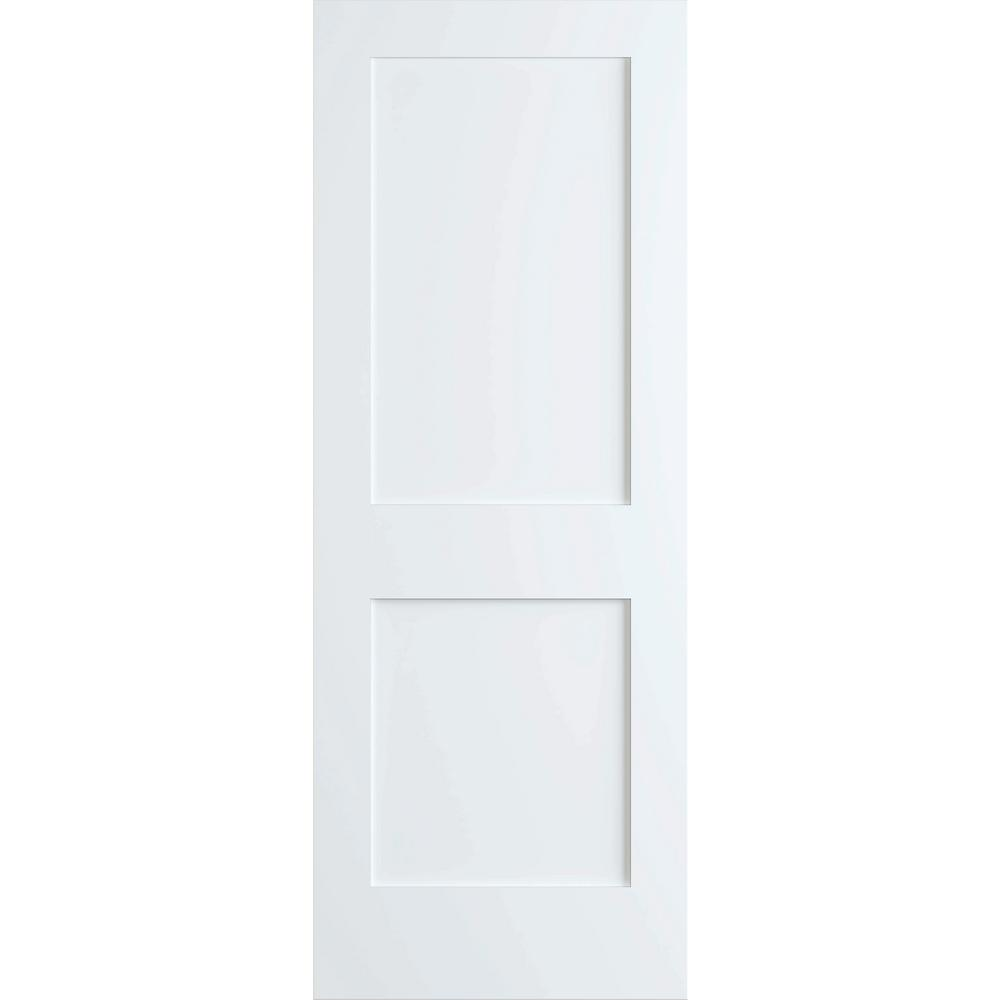 bay 32 in x 80 in white 2 panel shaker solid on Bay 32 In X 80 In 32 In Clear 6 Panel Solid id=35393