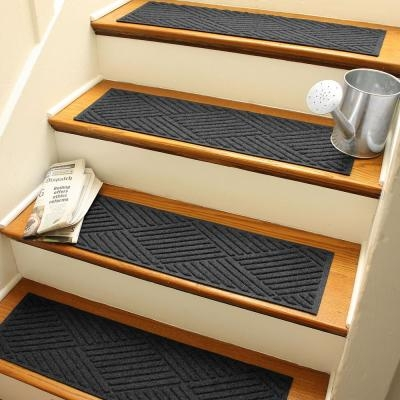 Stair Tread Covers Rugs The Home Depot | Stair Treads For Carpeted Stairs | Wood Stairs | Laminate | Anti Slip Stair | Basement Stairs | Skid Resistant