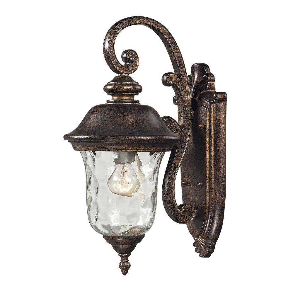 Titan Lighting Lafayette 1-Light Regal Bronze Outdoor ... on Sconce Outdoor Lighting id=41330