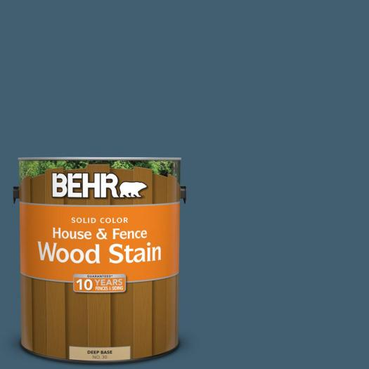 Behr 1 Gal Sc 107 Wedgewood Solid Color House And Fence Wood Stain
