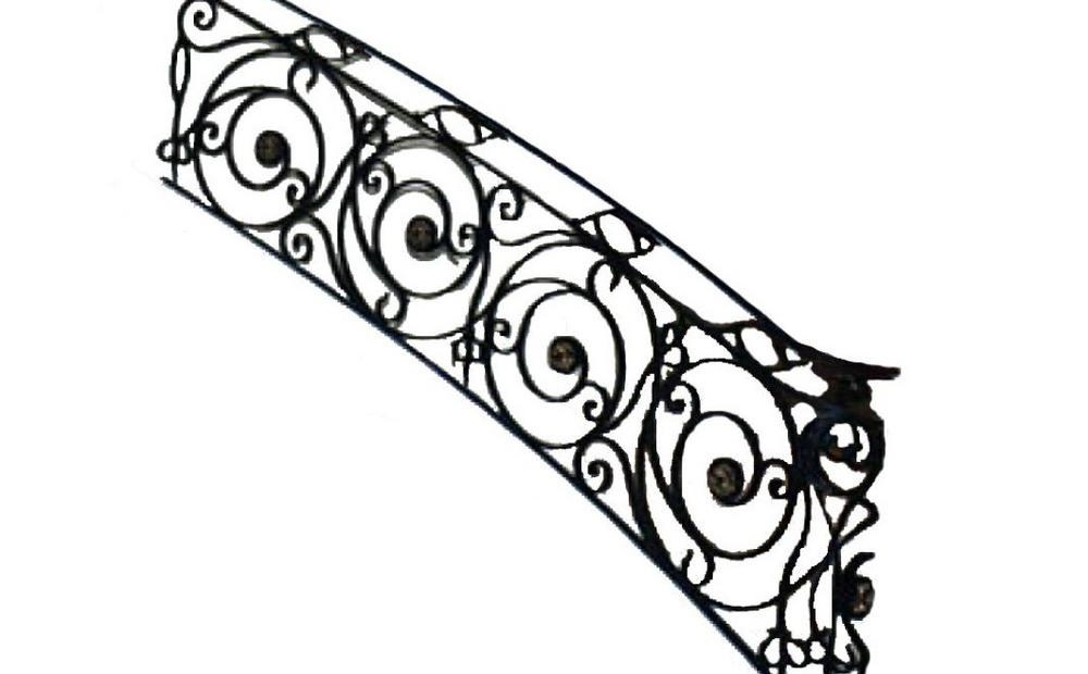 96 In X 38 In Finished Black Wrought Iron Baluster Railing Kit | Iron Stair Railing Home Depot | Aluminum Stair | Interior | Rail Kit | Deck Stair | Aluminum Railing