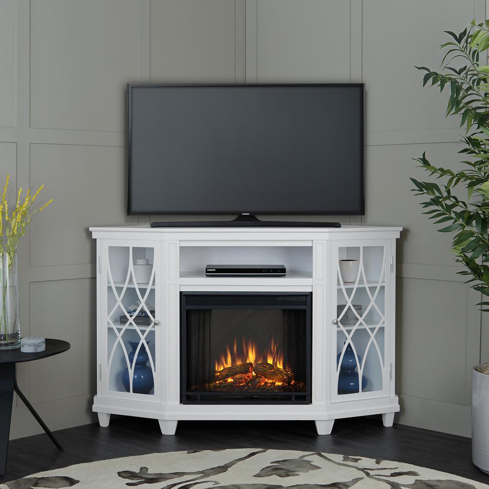 title | White Corner Fireplace