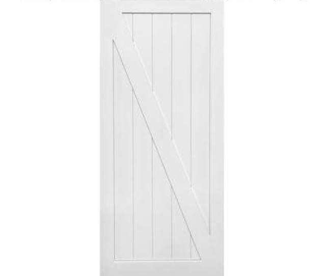Primed Z Plank Mdf Barn Door With Sliding
