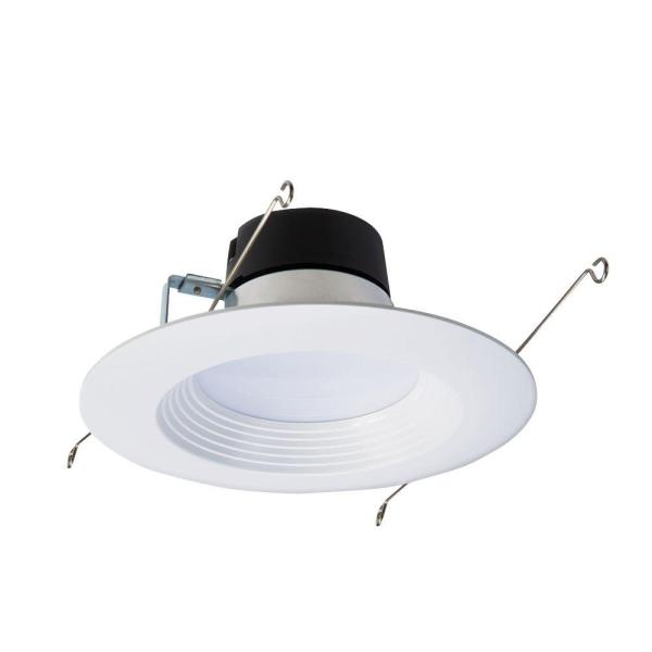 Halo LT 5 in  and 6 in  White Integrated LED Recessed Ceiling Light     White Integrated LED Recessed Ceiling Light Fixture