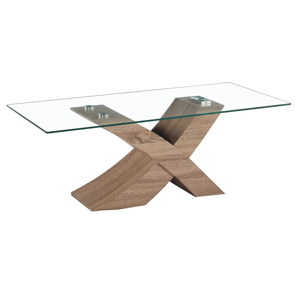 fab glass and mirror venice x modern style glass coffee table with oak effect base fgm tl 14c18 2 the home depot