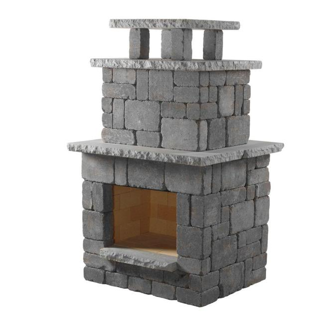 necessories bluestone compact outdoor fireplace-4200038 - the home depot