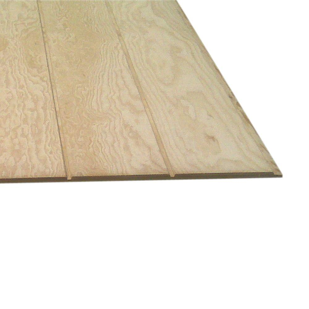 Plywood Siding Panel T1 11 8 In Oc Common 5 8 In X 4 Ft