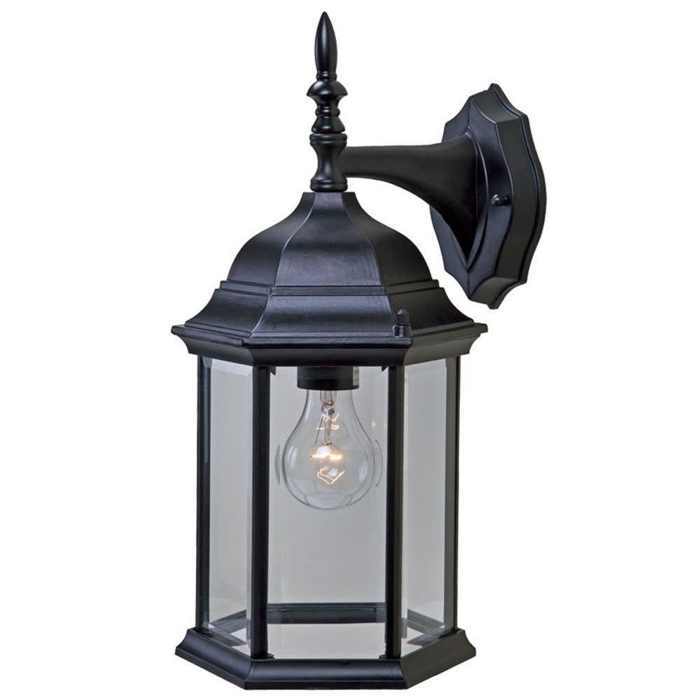 Acclaim Lighting Craftsman 2 Collection 1-Light Matte ... on Outdoor Lighting Fixtures Wall Mounted id=80781