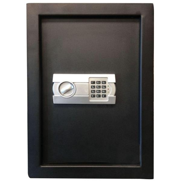 Wall   Floor Safes   Safes   The Home Depot 0 58 cu  ft  Wall Safe with Electronic Lock  Black