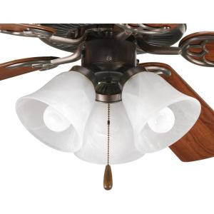 Hunter Amber Builder Bowl Ceiling Fan Light Kit with Bronze and Antique Brass Finials21827
