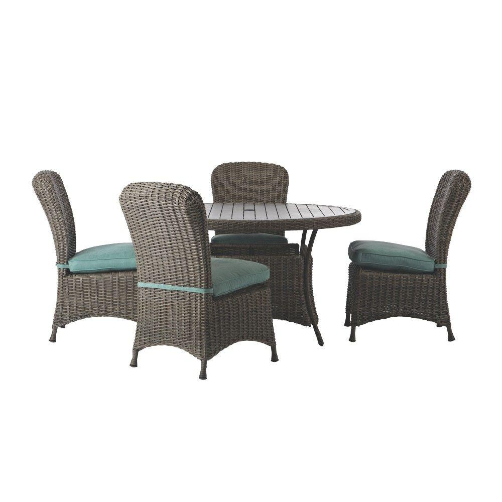 Martha Stewart Living Lake Adela Weathered Gray 5-Piece ... on Martha Stewart Wicker Patio Set id=93108