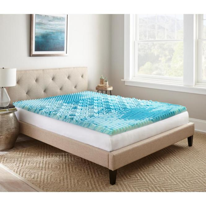 Full Gellux Gel Memory Foam Mattress Topper