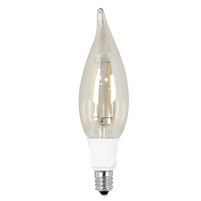 Feit Electric 40w Equivalent Soft White 2200k Ca10 Candelabra Base Dimmable Led Vintage Style Light Bulb Case Of 12 Bpcft The Home Depot