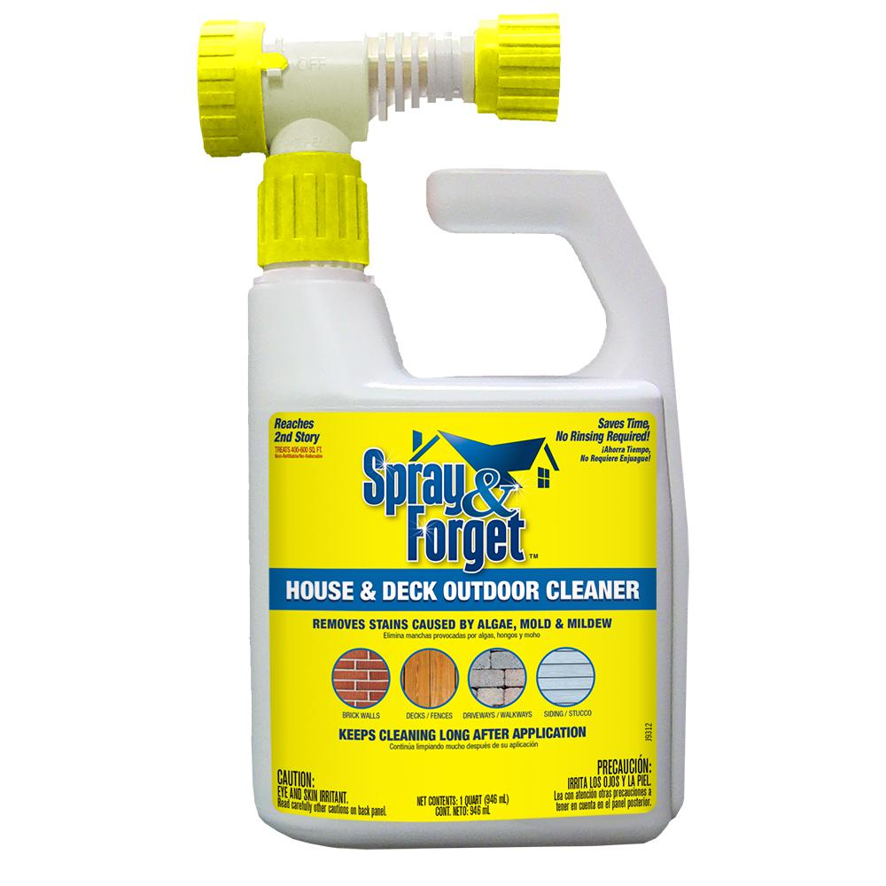 Spray Forget 32 Oz House And Deck Cleaner Outdoor Mold Remover With Hose End Sprayer Sfdheq06 The Home Depot