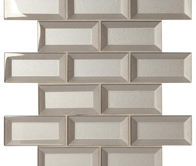 Stone Decor Silver  In X  In X  Mm Glass Brick Joint
