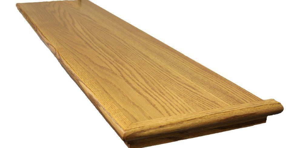 Stairtek 625 In X 11 5 In X 48 In Prefinished Marsh Red Oak | Prefinished Wood Stair Treads | Natural Red | Hardwood Lumber | Hardwood Flooring | Stair Nosing | Hickory