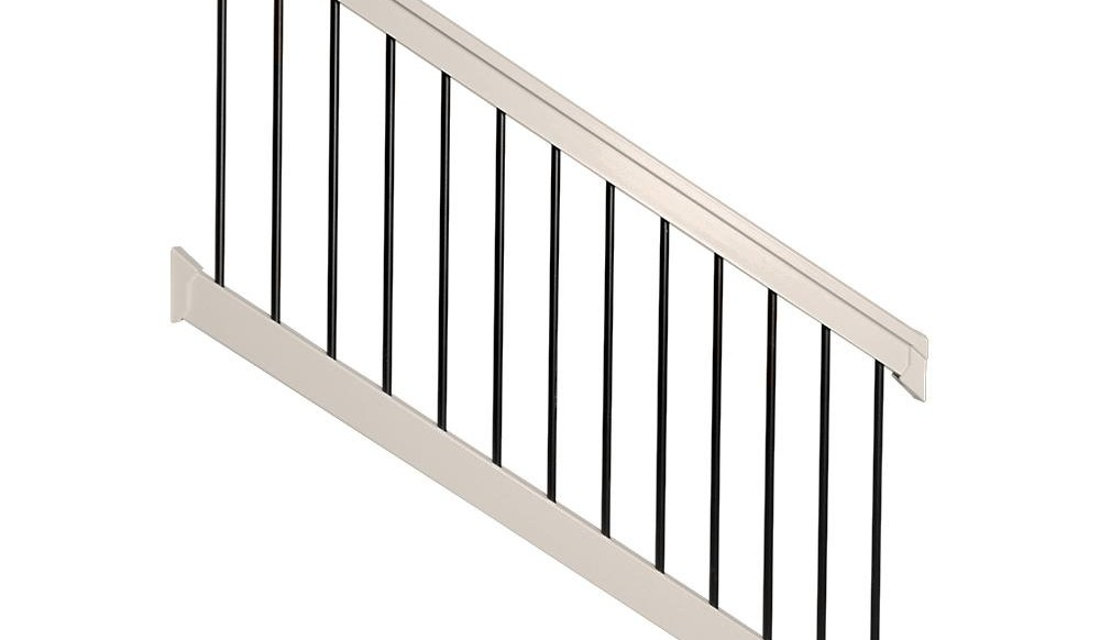 Weatherables Bellaire 3 5 Ft H X 72 In W Tan Vinyl Stair | Home Depot Outdoor Stairs