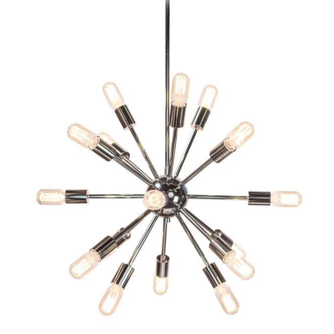Style selections 18 light brushed nickel chandelier chandelier ideas decor living sputnik 18 light polished nickel chandelier 751c 32 aloadofball Image collections