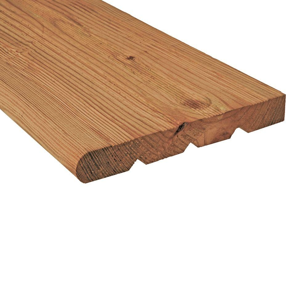 2 In X 12 In X 4 Ft Cedar Tone Pressure Treated Wood Step Tread | Wood For Outdoor Stairs | Railing | Risers | Staircase | Deck Railing | Treated Pine