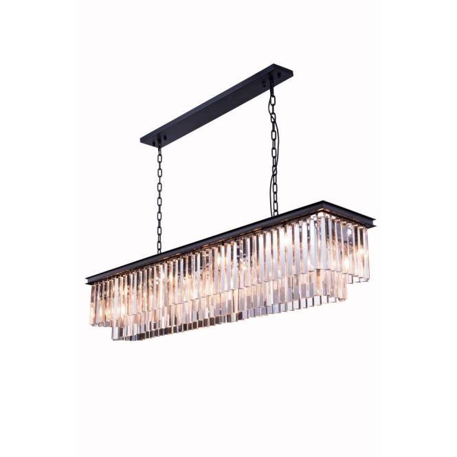 Elegant Lighting Sydney 12 Light Polished Nickel Chandelier With Clear Crystal