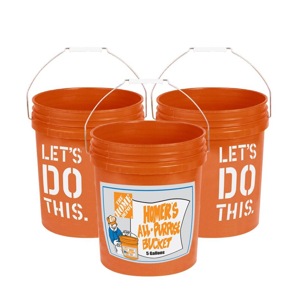 The Home Depot  Gal Homer Bucket  Pack