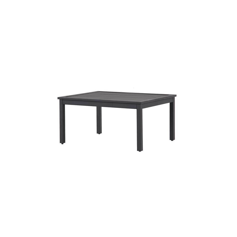 hampton bay riley metal outdoor patio coffee table hd18129j the home depot