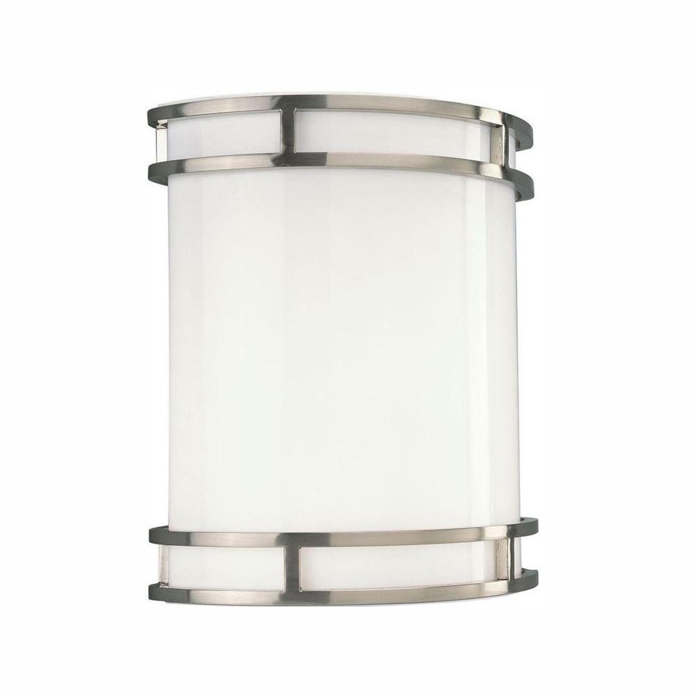 Progress Lighting 1-Light Brushed Nickel Integrated LED ... on Led Sconce Lighting id=21839