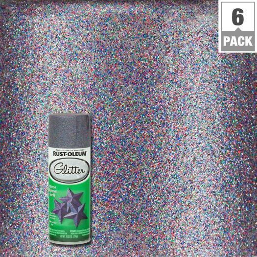 Purple Glitter Spray Paint 6 Pack