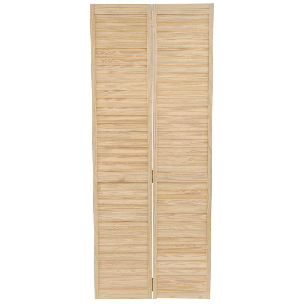 bay 32 in x 80 in 32 in plantation louvered Bay 32 In X 80 In 32 In Clear 6 Panel Solid id=73133