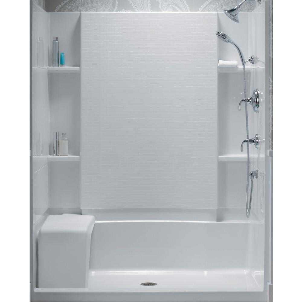STERLING Accord 36 In X 60 In X 55 18 In BathShower Wall Set In White 71164103 V 0 The