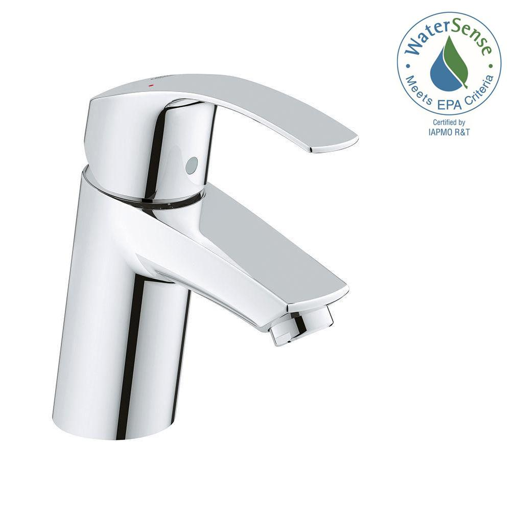 grohe eurosmart new single hole single handle bathroom faucet in