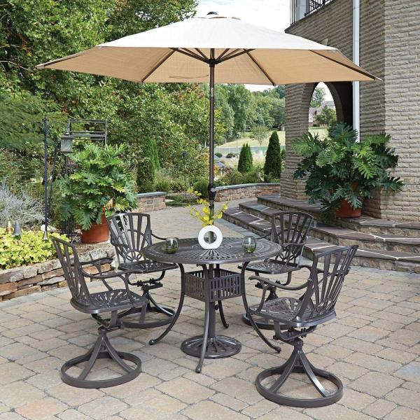 home depot 5 piece patio dining sets Home Styles Largo 5-Piece Patio Dining Set-5561-3056 - The