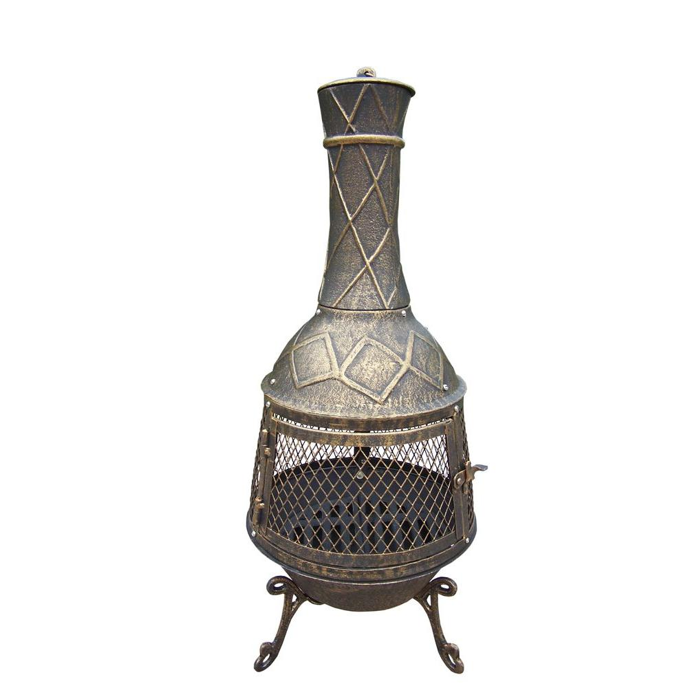 Oakland Living 34 in. Elite Chimenea-8021-AB - The Home Depot on Ab And Outdoor Living  id=34768