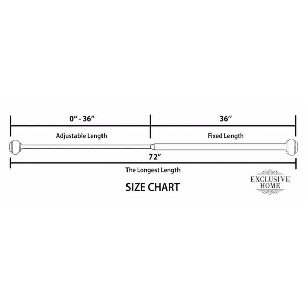 48 to 84 inches adjustable curtain rod