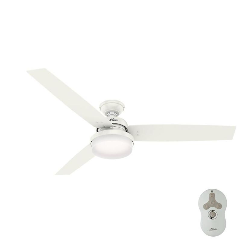 hunter sentinel 60 in led indoor fresh white ceiling fan with white hunter ceiling fans93 fans