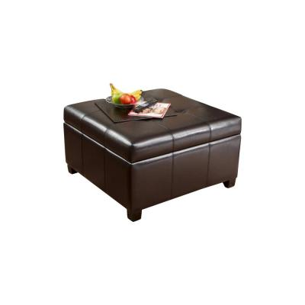 brown ottomans living room