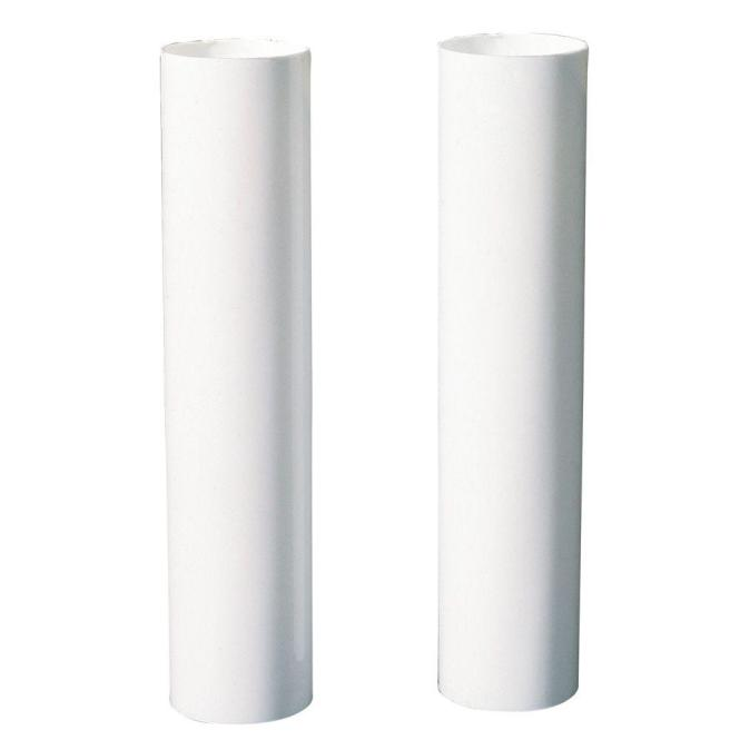 White Candelabra Base Candle Socket Covers 2 Pack 7037000 The Home Depot