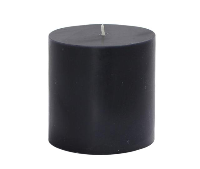 Zest Candle  In X  In Black Pillar Candles Bulk