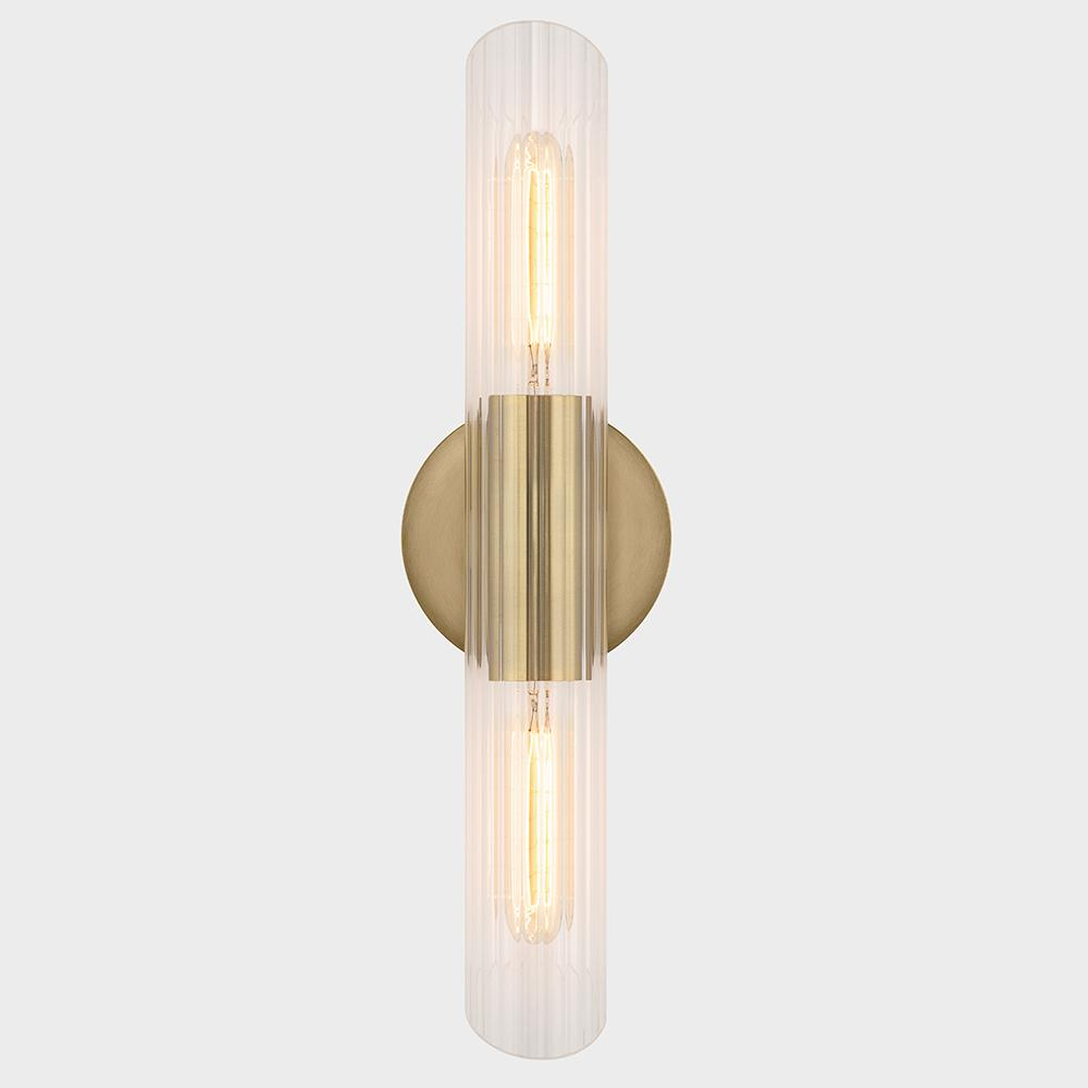 Fifth and Main Lighting James 2-Light Aged Brass Small ... on Small Wall Sconce Light id=94500