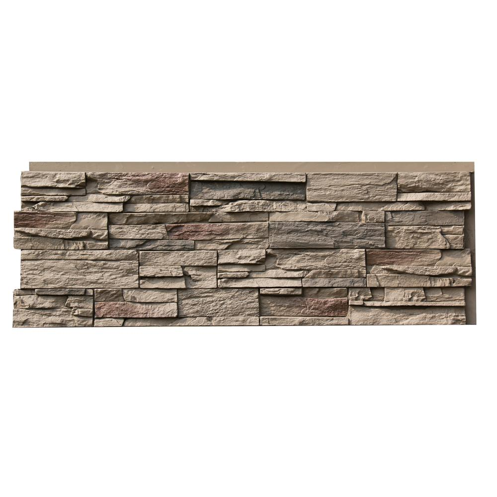 Nextstone Country Ledgestone 15 5 In X 43 5 In Teton Buff Faux Stone Siding Panel 4 Pack Clp Ttb 4 The Home Depot
