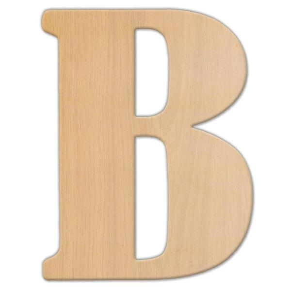 Jeff McWilliams Designs 23 in  Oversized Unfinished Wood Letter  B     Oversized Unfinished Wood Letter  B