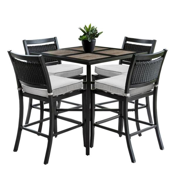 outdoor bar height patio dining sets Outdoor/Indoor 9-Piece Aluminum Outdoor Bar Height Dining