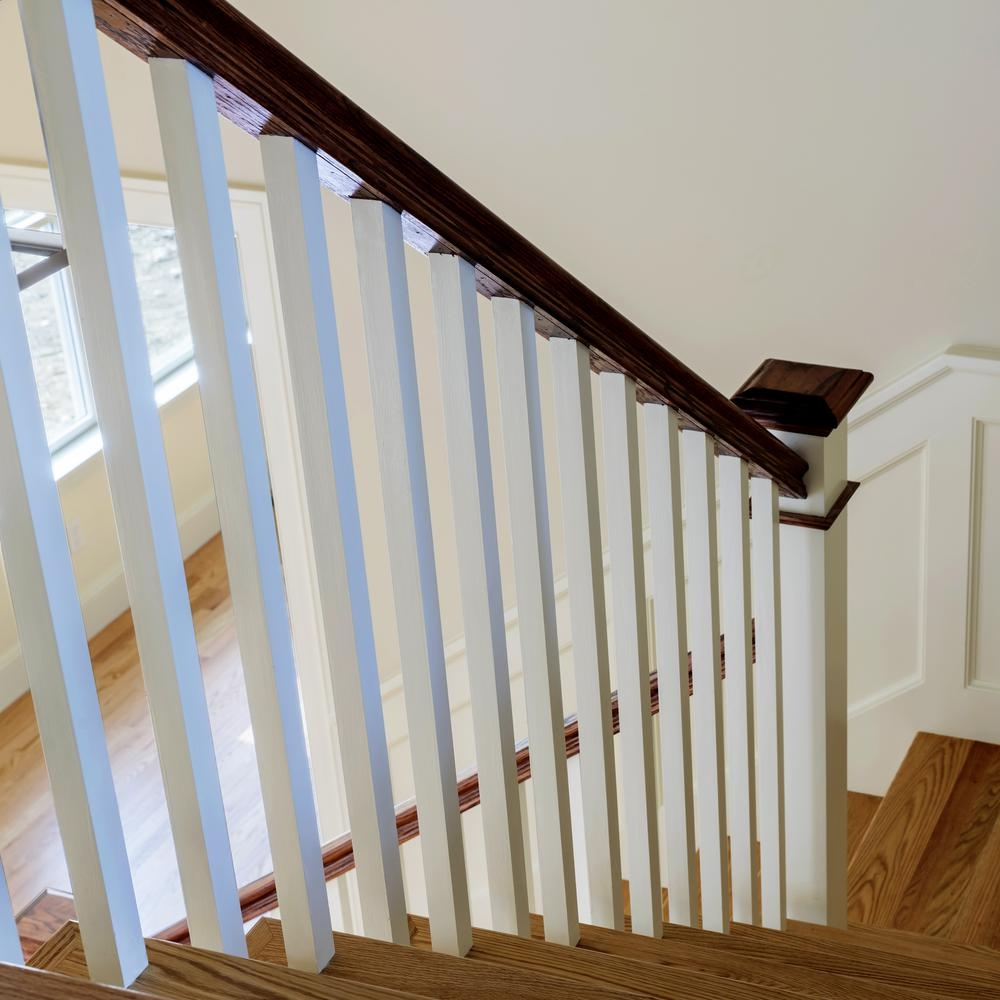 Stair Parts 6510 8 Ft Unfinished White Oak Stair Handrail 6510W   Hardwood Handrails For Stairs   Brown   Outdoor   Stairway   Light Wood   Colour Stair Painted Stair Railing