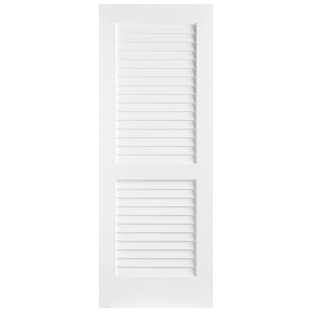 masonite 30 in x 80 in plantation smooth louver on Masonite 30 In X 80 In Half Louvered Primed Hollow id=28646