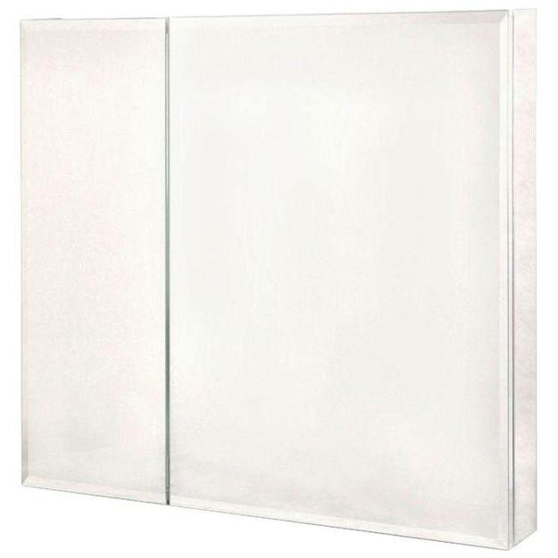 pegasus 30 in. x 30 in. frameless recessed or surface-mount bi-view