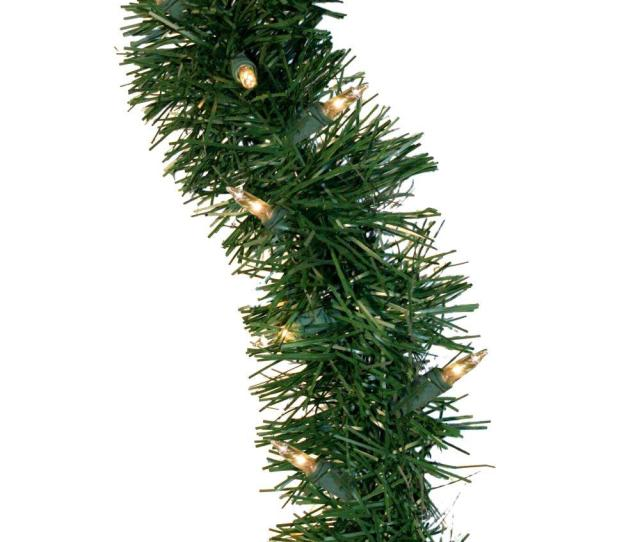 Holiday Classics Artificial Garland With  Clear Lights