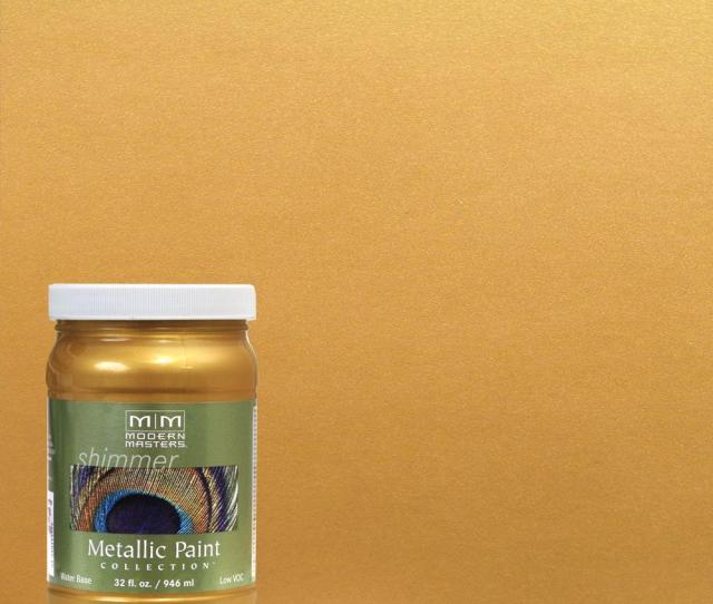 Modern Masters  Qt Pharaohs Gold Water Based Satin Metallic Interior Exterior Paint