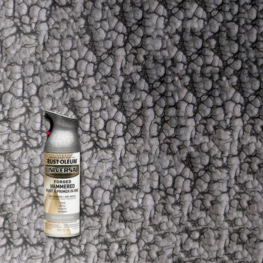 Rust Oleum Universal 12 Oz All Surface Forged Hammered Antique Pewter Spray Paint And