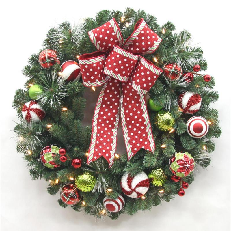 Decorated christmas wreath billingsblessingbags